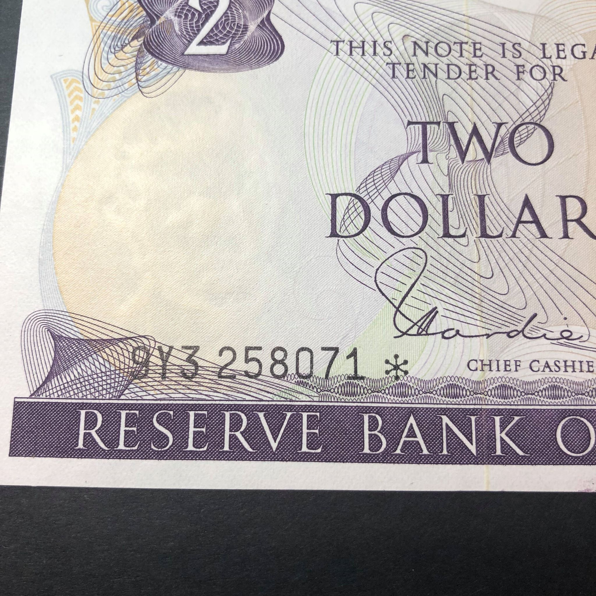 New Zealand c 1980 $2 Star Note Uncirculated